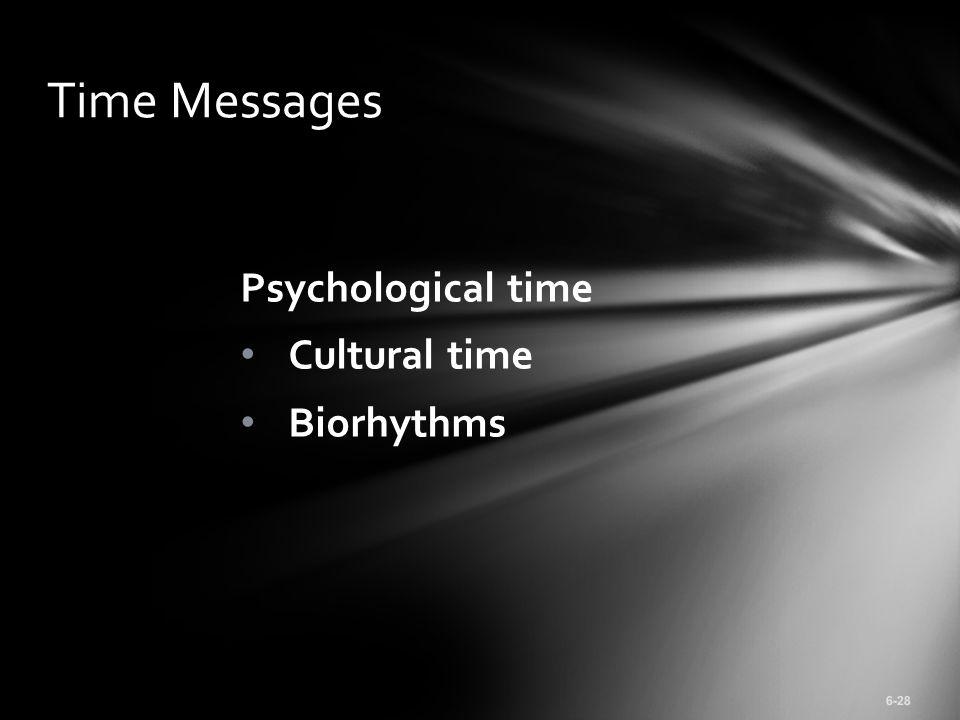 Psychological time Cultural time Biorhythms Time Messages 6-28