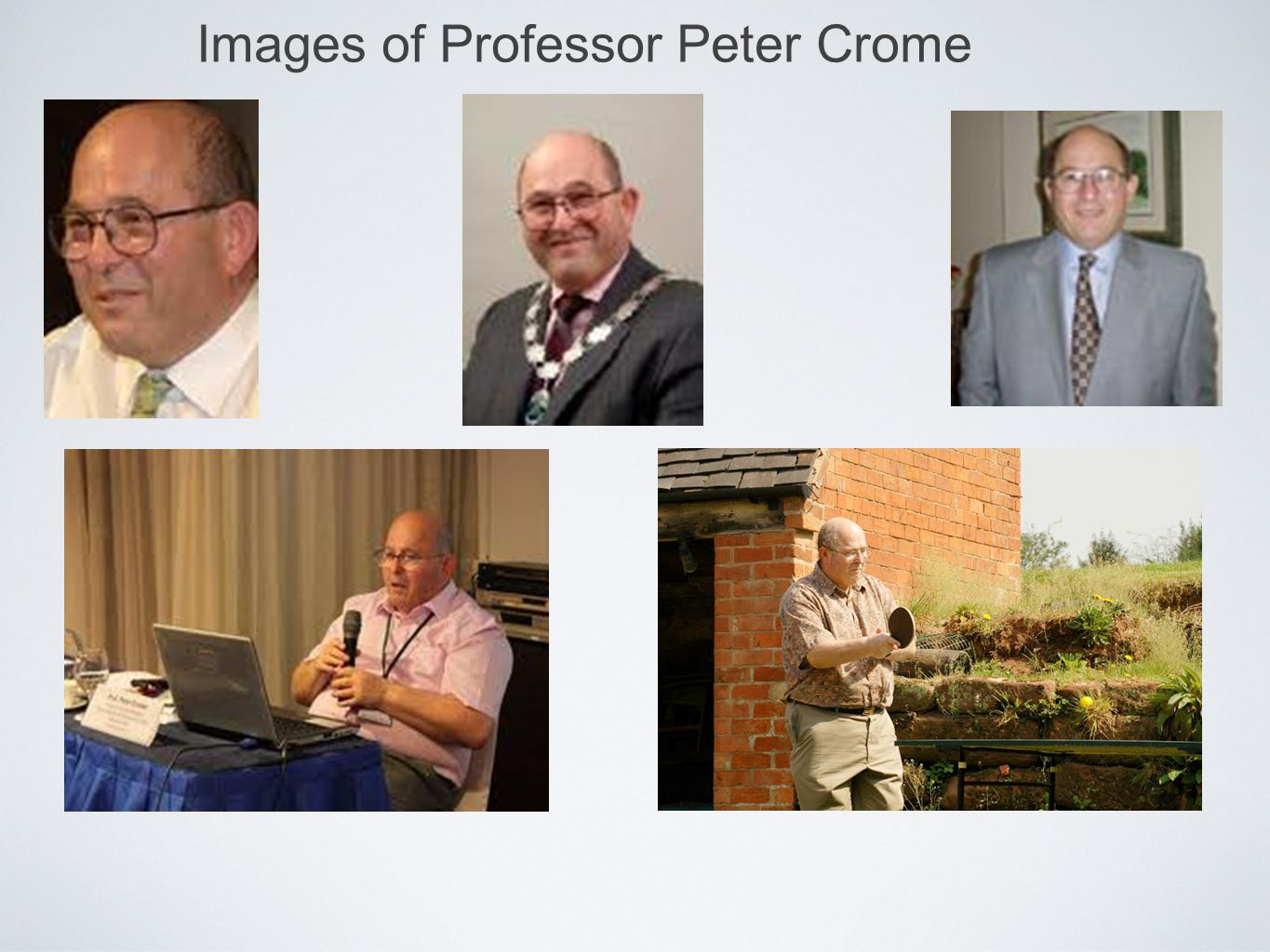 Images of Professor Peter Crome
