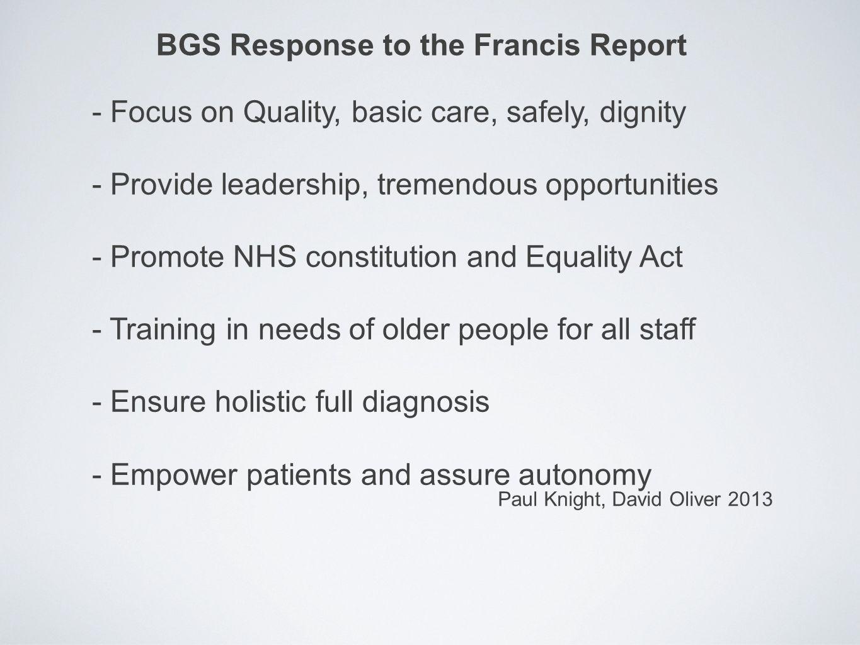 Oliver Corrado as chair examining board Geriatric Medicine in 3.2007 BGS newslette r