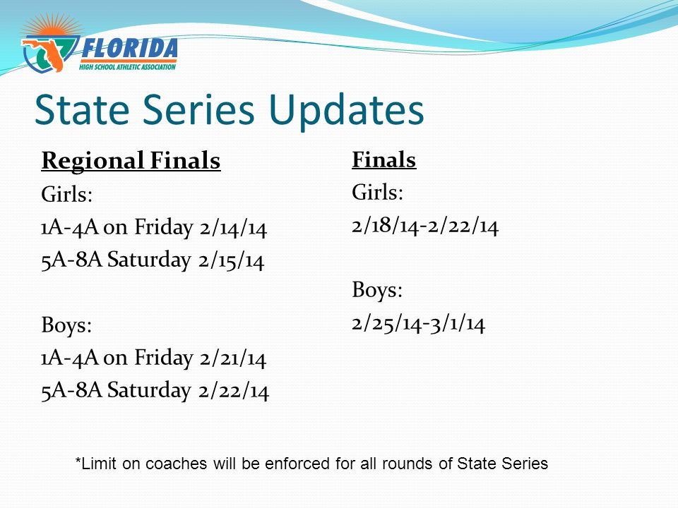 Have a Great Season! QUESTIONS??? Email :Hjones@fhsaa.orgHjones@fhsaa.org Gpigott@fhsaa.org