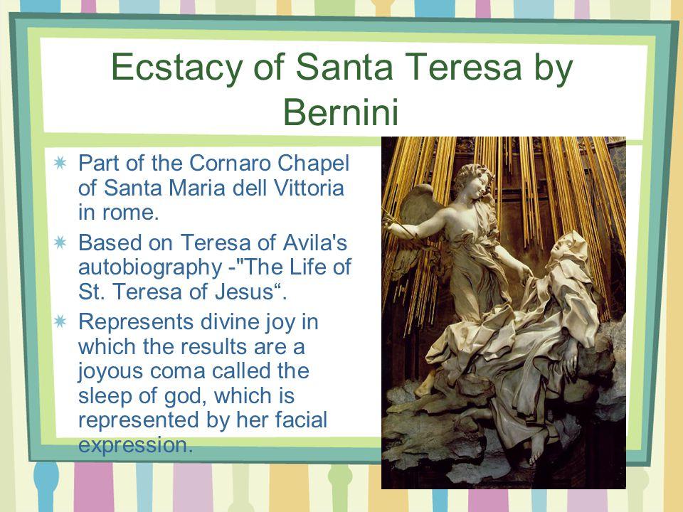 Ecstacy of Santa Teresa by Bernini Part of the Cornaro Chapel of Santa Maria dell Vittoria in rome.