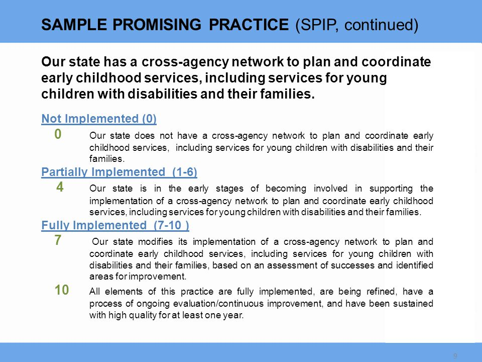 Collaborative Planning Approaches and Impacts - State Infrastructure 20  Improved coordination of existing initiatives and activities  Influencing other existing state plans to address inclusion  Stronger connections and relationships between and among EC programs for joint training  Embedding inclusion in policy, regulation reform and MOA updates