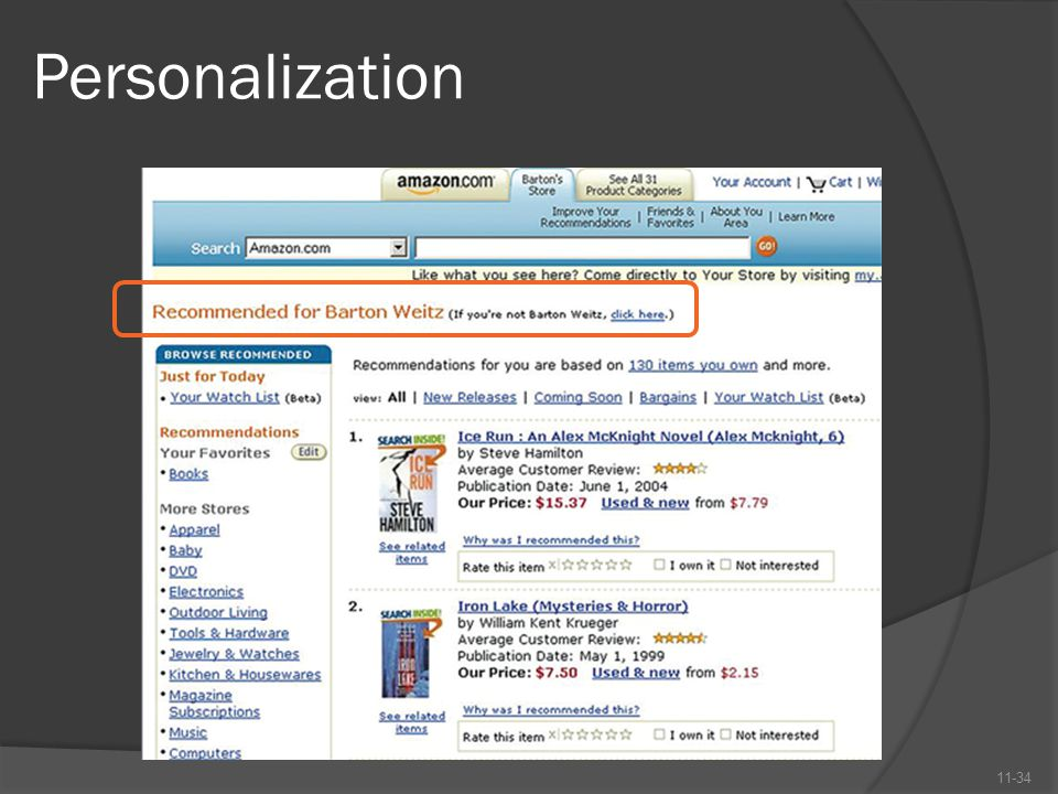 Personalization 11-34