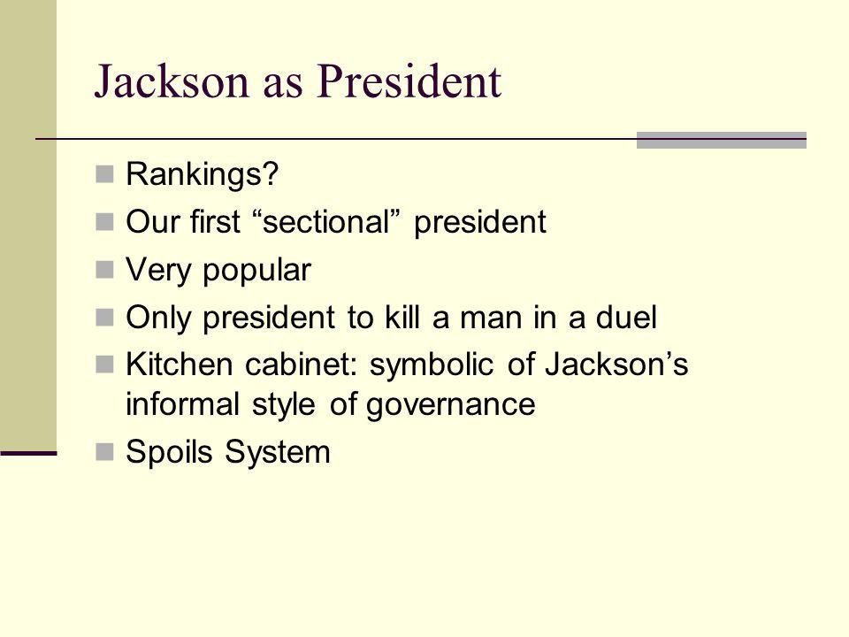 Jackson as President Rankings.