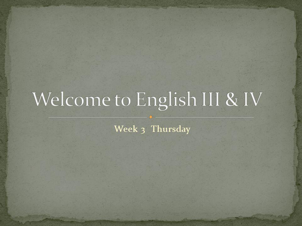 Week 3 Thursday