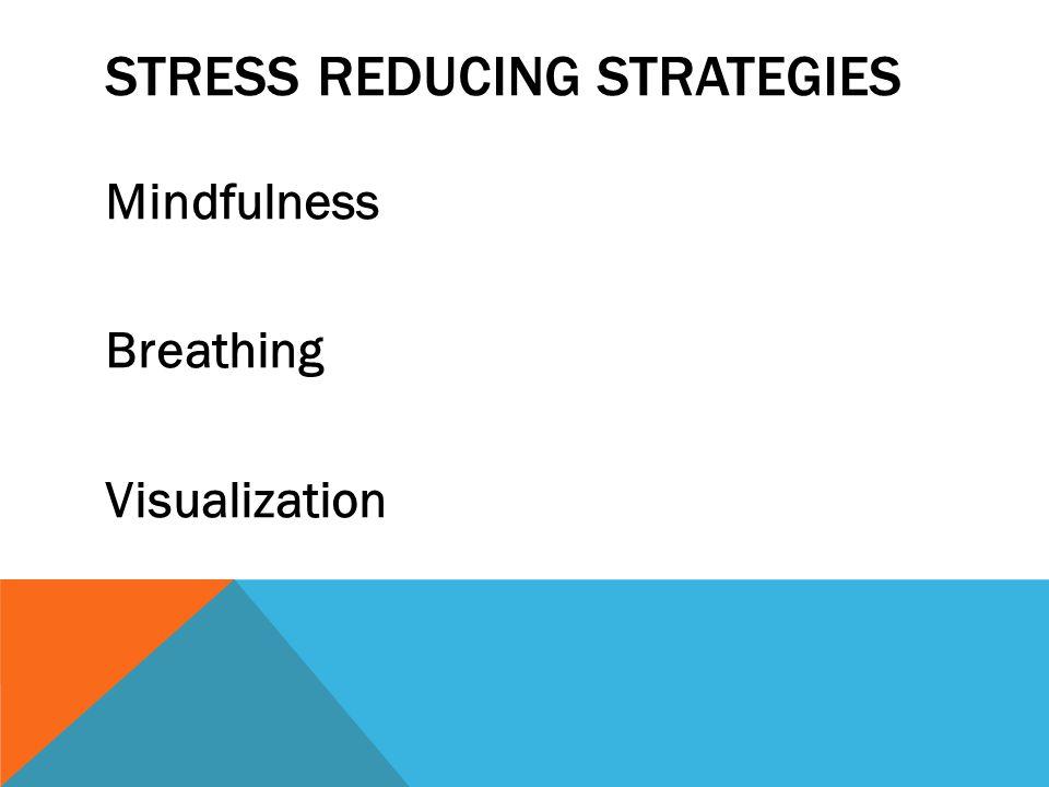 STRESS REDUCING STRATEGIES Mindfulness Breathing Visualization