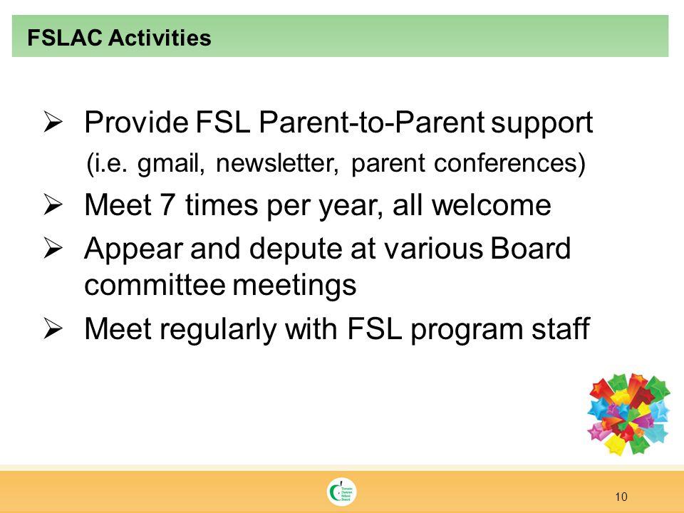  Provide FSL Parent-to-Parent support (i.e.