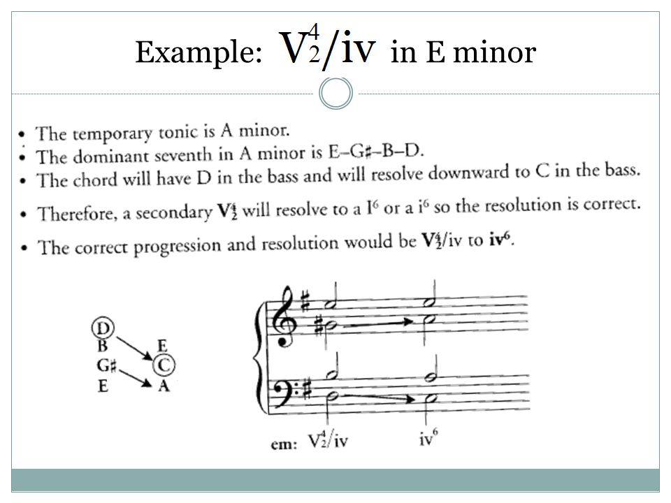 Example: in E minor