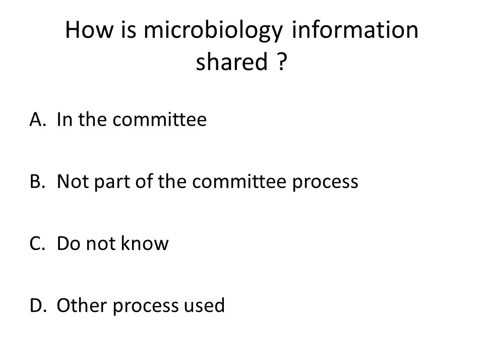 How is microbiology information shared .
