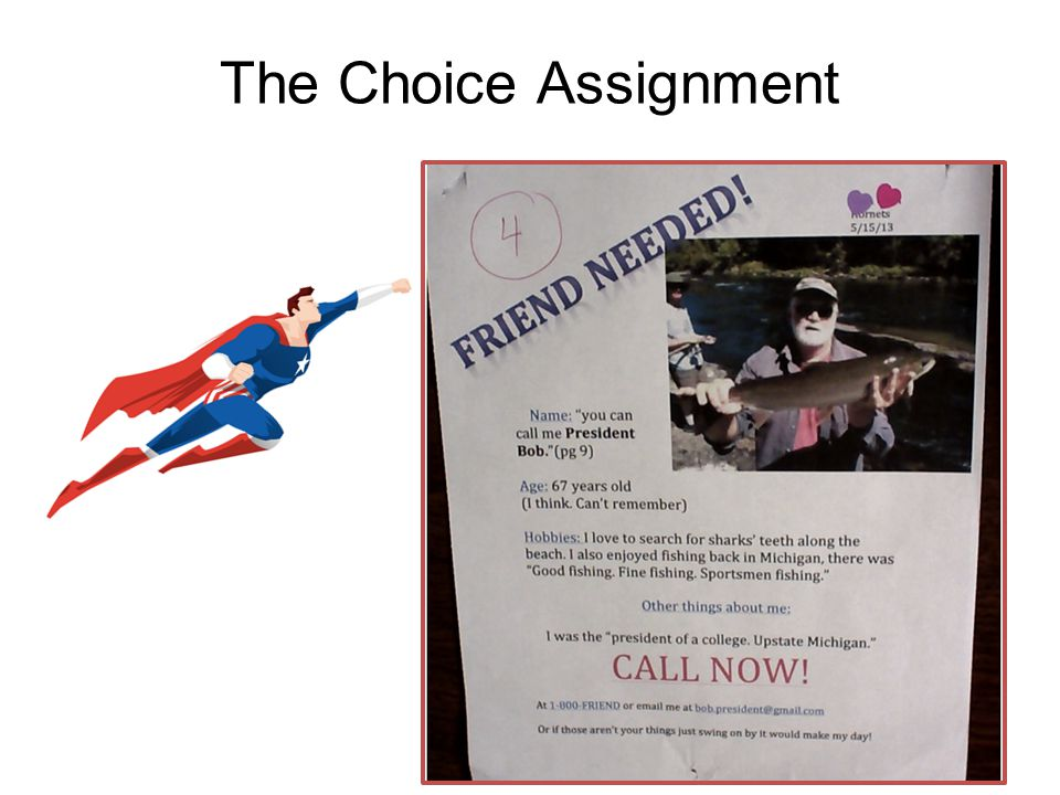 The Choice Assignment