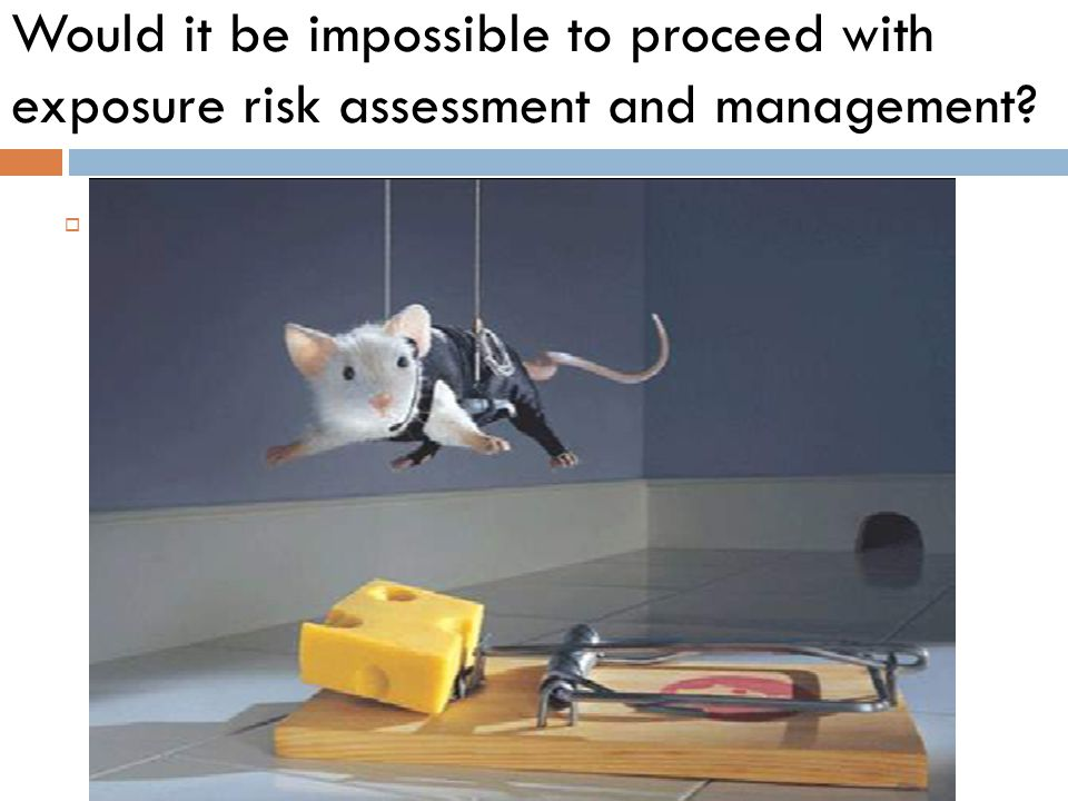 Would it be impossible to proceed with exposure risk assessment and management
