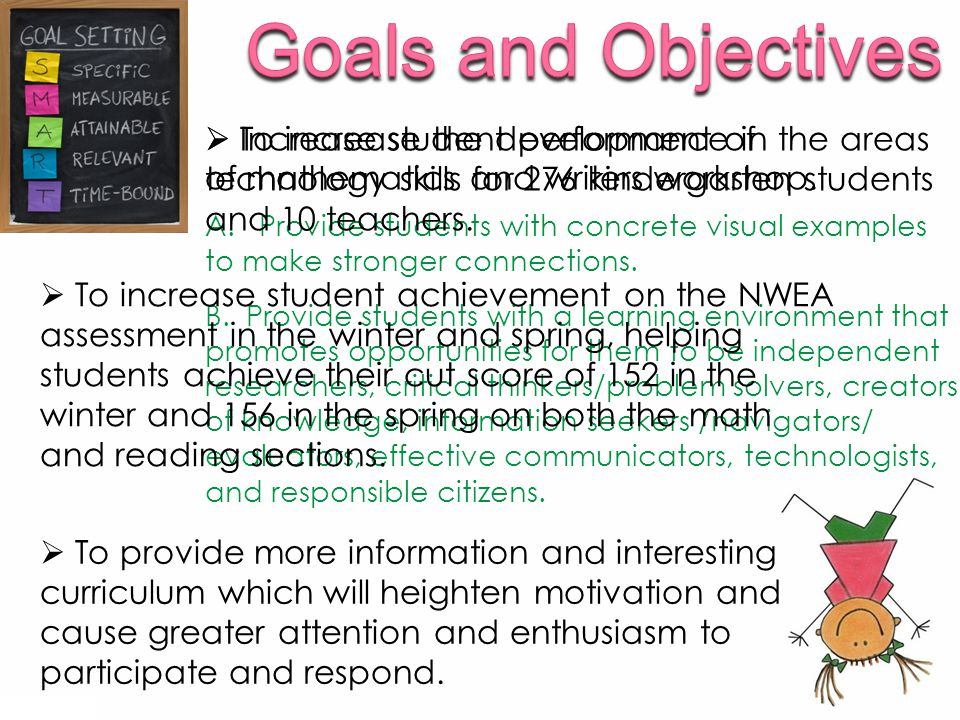  To provide more information and interesting curriculum which will heighten motivation and cause greater attention and enthusiasm to participate and respond.