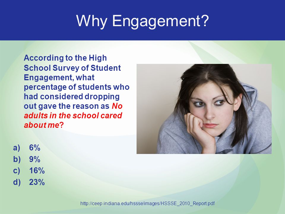 Family Engagement Research There is research that indicates increased Family Engagement leads to higher teacher job satisfaction.