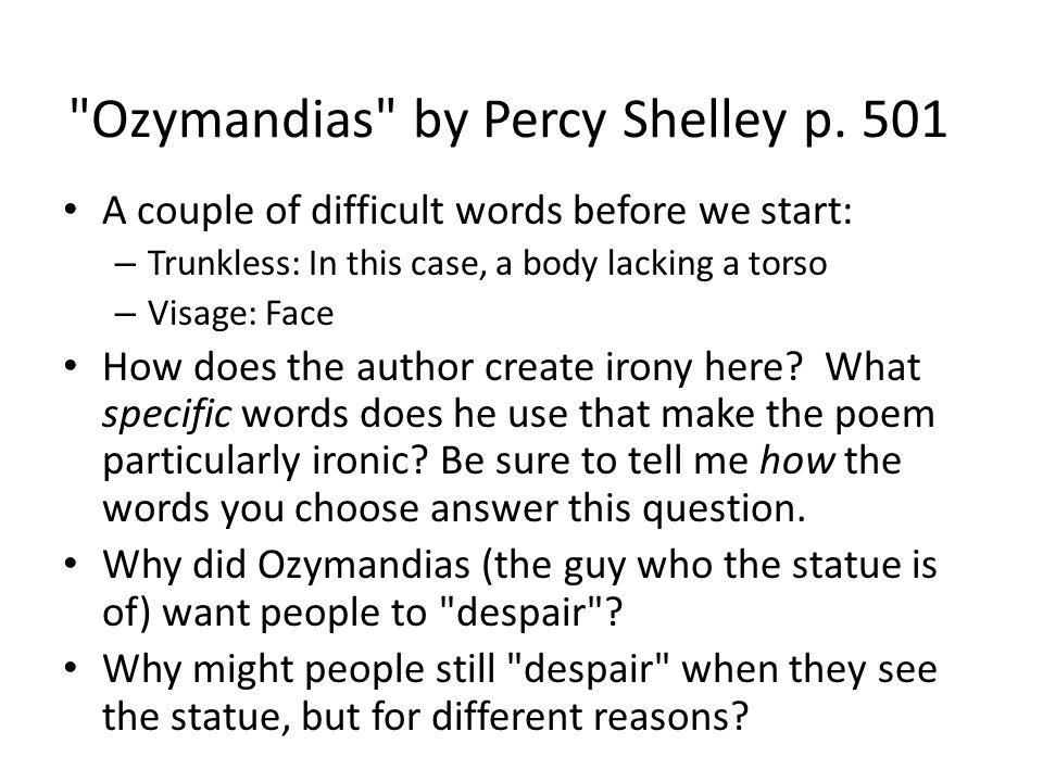 critical analysis of ozymandias