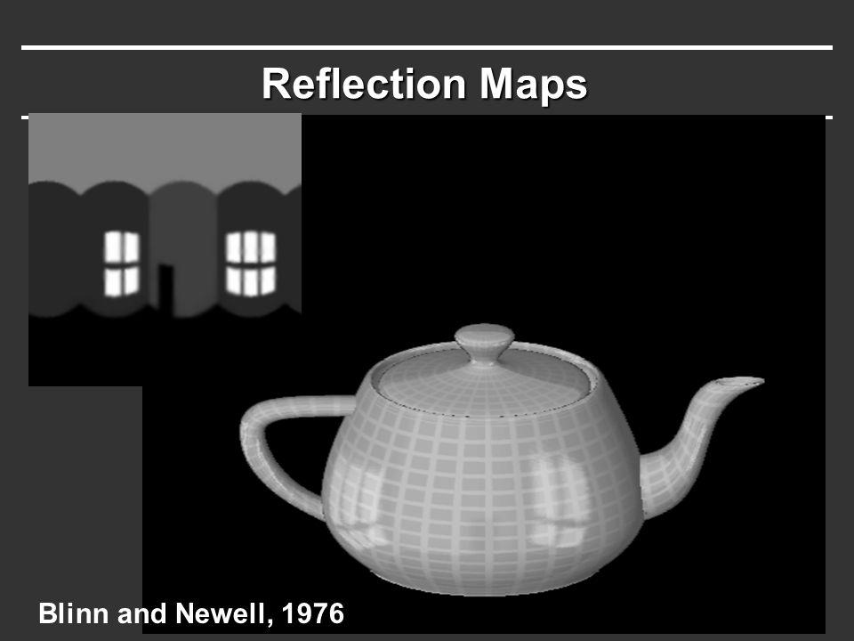 Reflection Maps Blinn and Newell, 1976