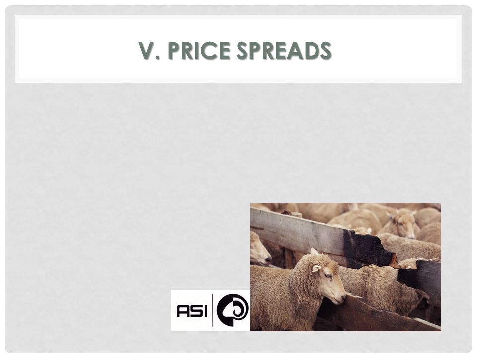 V. PRICE SPREADS