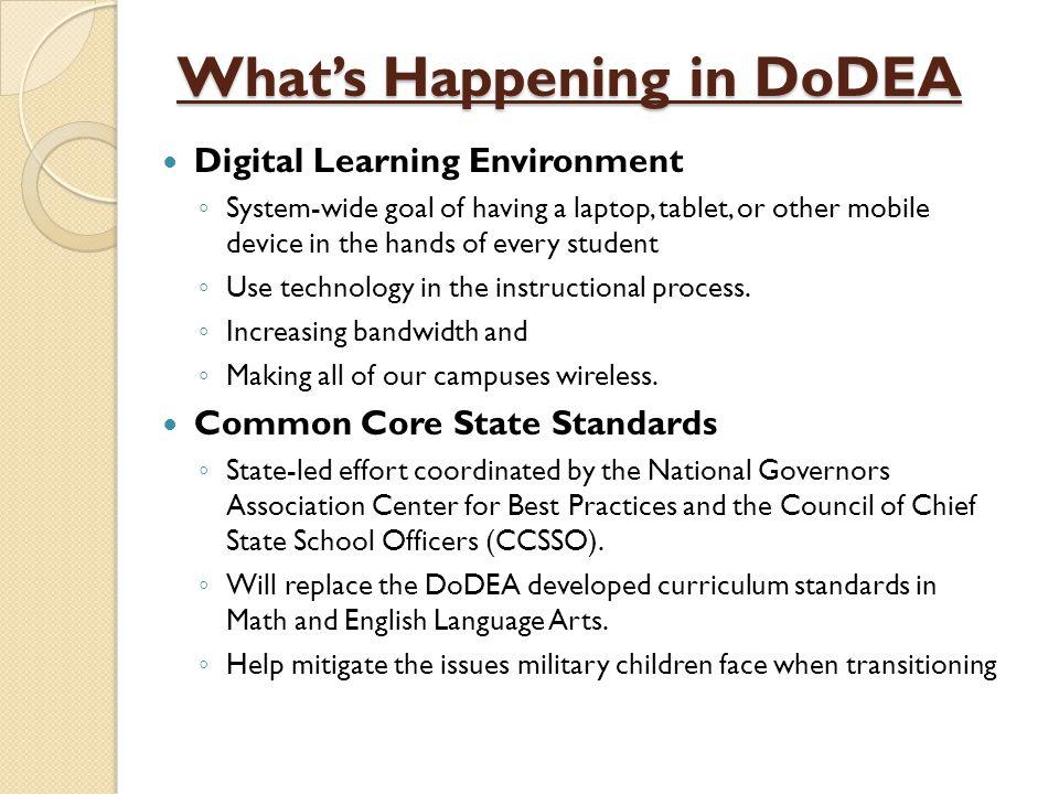 DoDDS-E Challenges Student Achievement DoDEA Student Achievement Measures: ◦ TerraNova ◦ NAEP ◦ SAT ◦ Advanced Placement 19