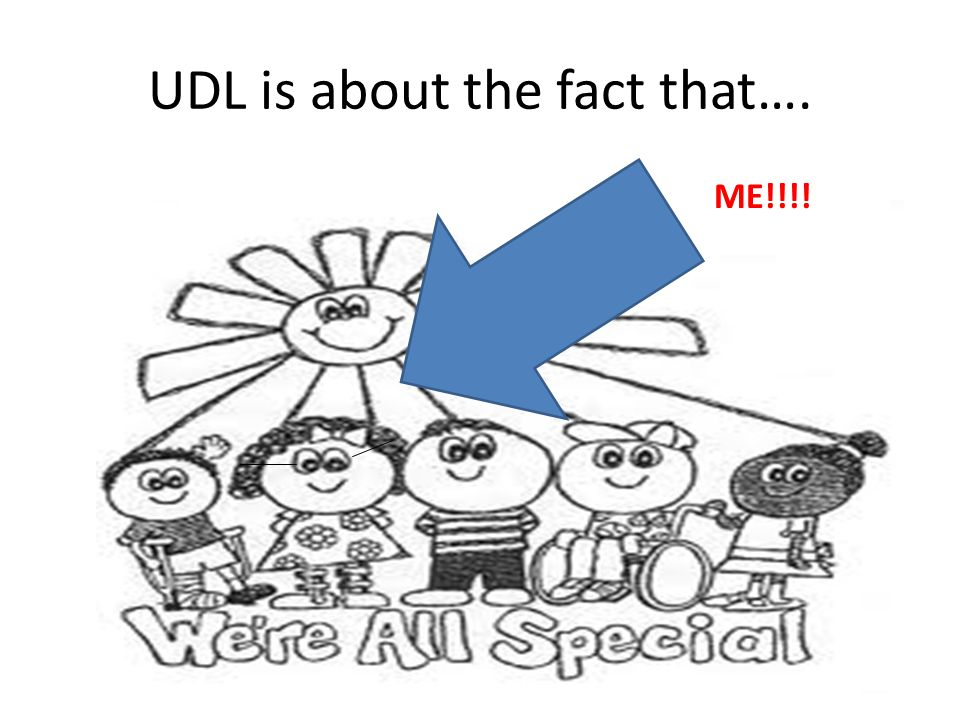 UDL is about the fact that…. ME!!!!