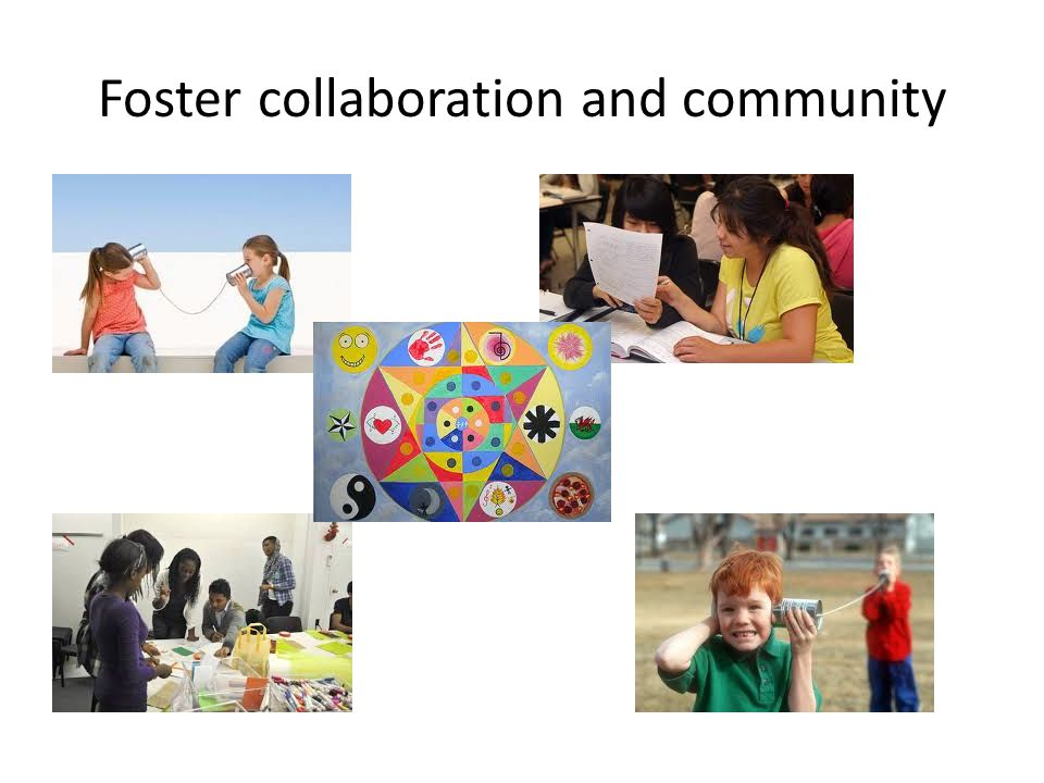 Foster collaboration and community