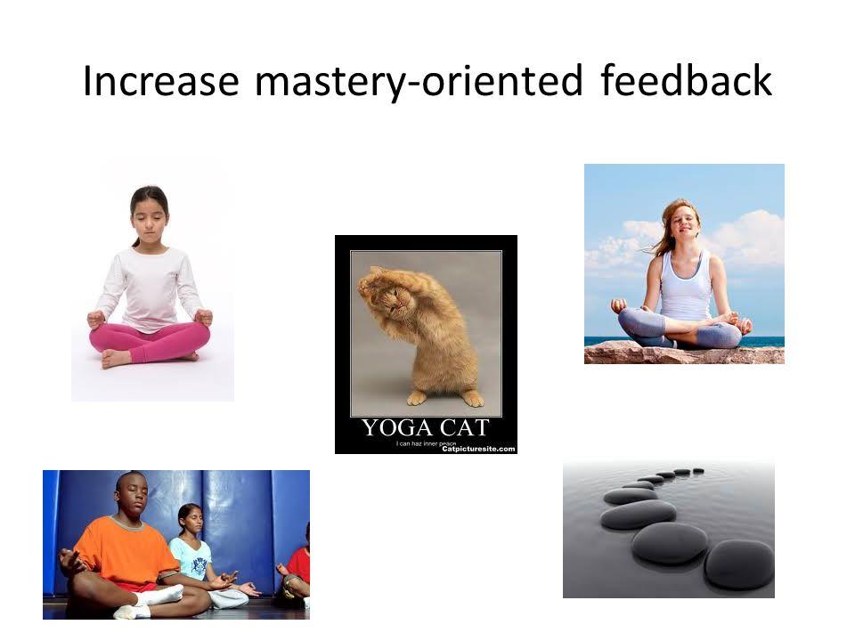 Increase mastery-oriented feedback