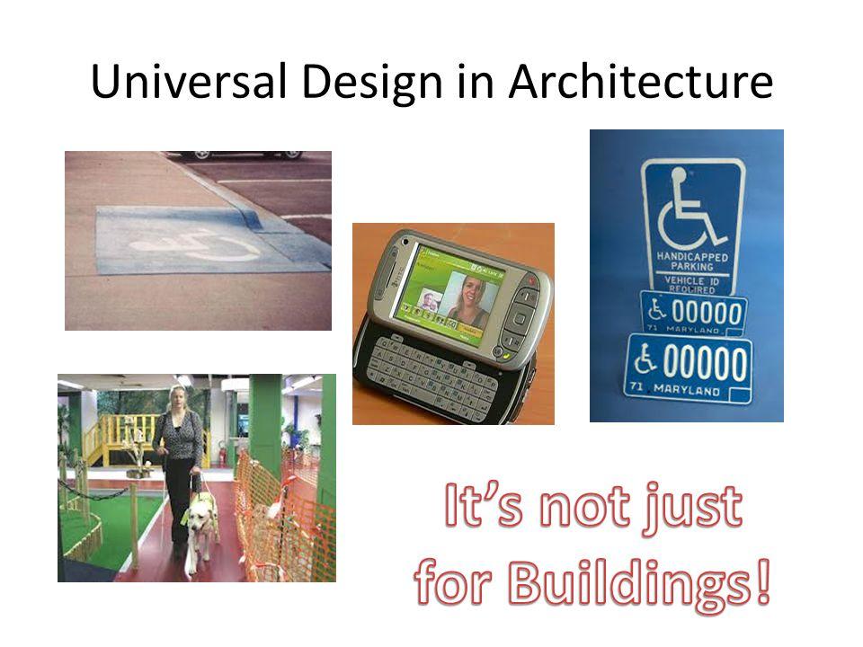 Universal Design in Architecture