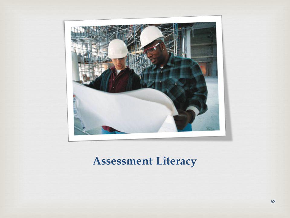 Assessment Literacy 68