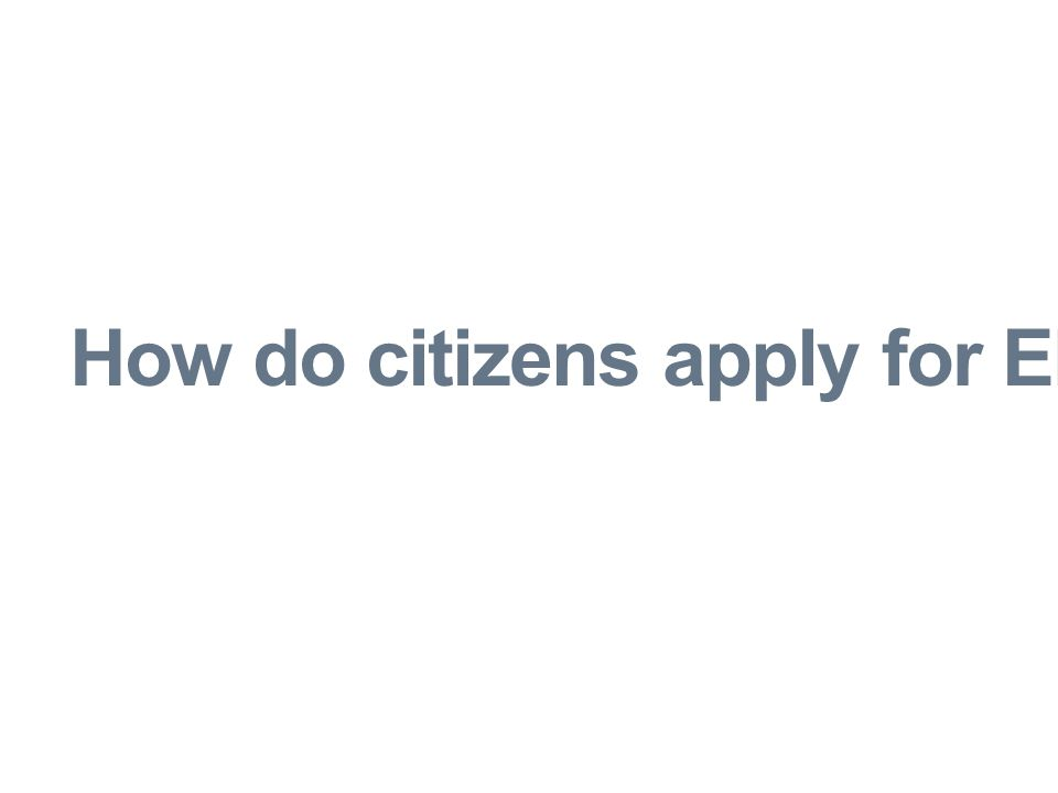 How do citizens apply for EITC?