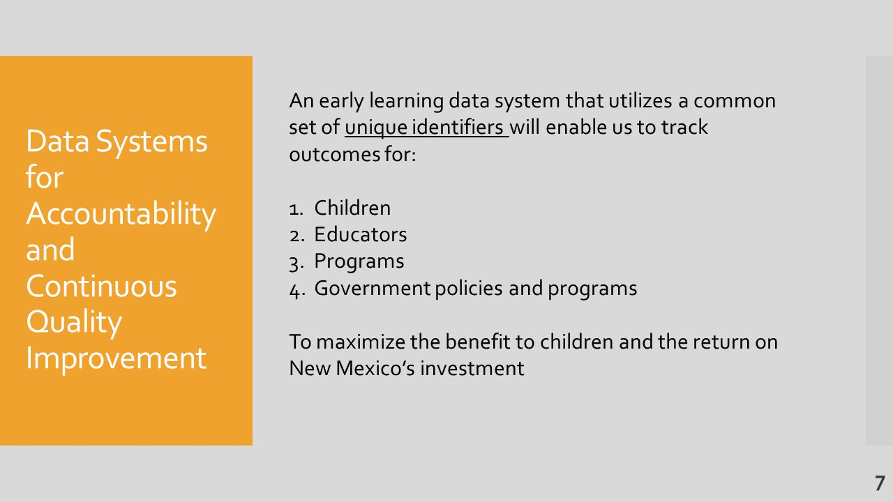Recommended Early Childhood System Expansion Total Cost Over 5 Years: $119 Million New General Fund 8