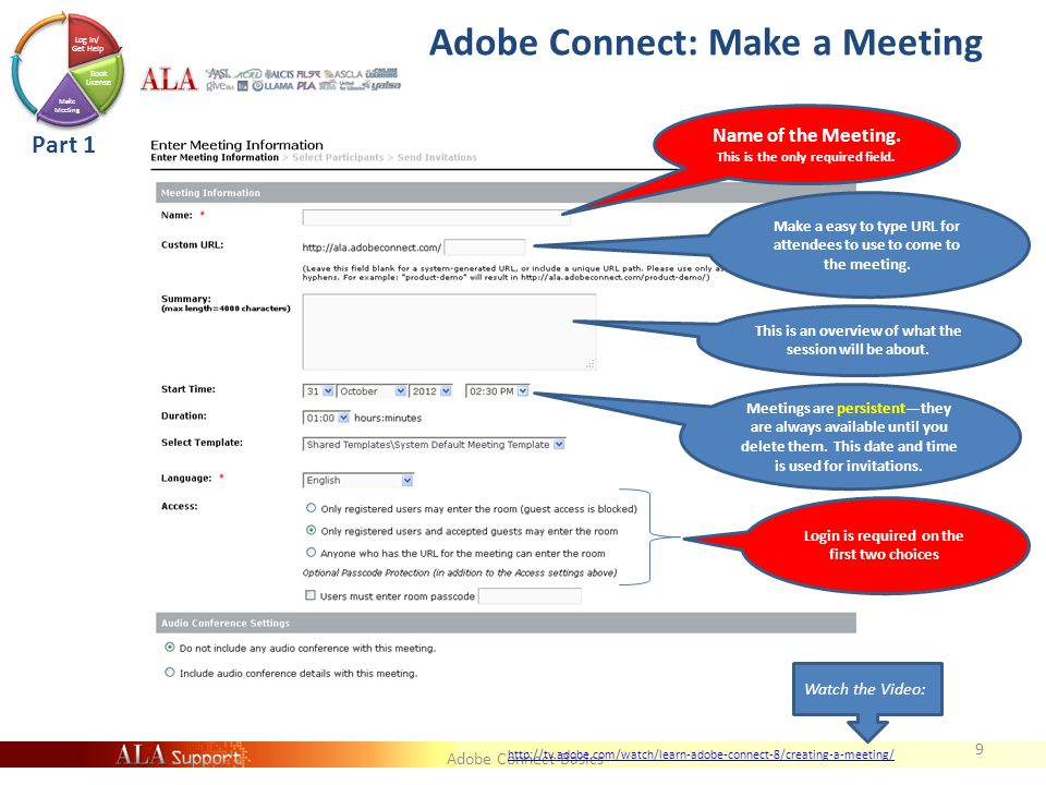 Adobe Connect Basics What They see if you hit REGISTER NOW *With no image in field for Large Banner