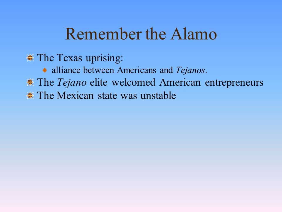 Texans and Tejanos Remember the Alamo!