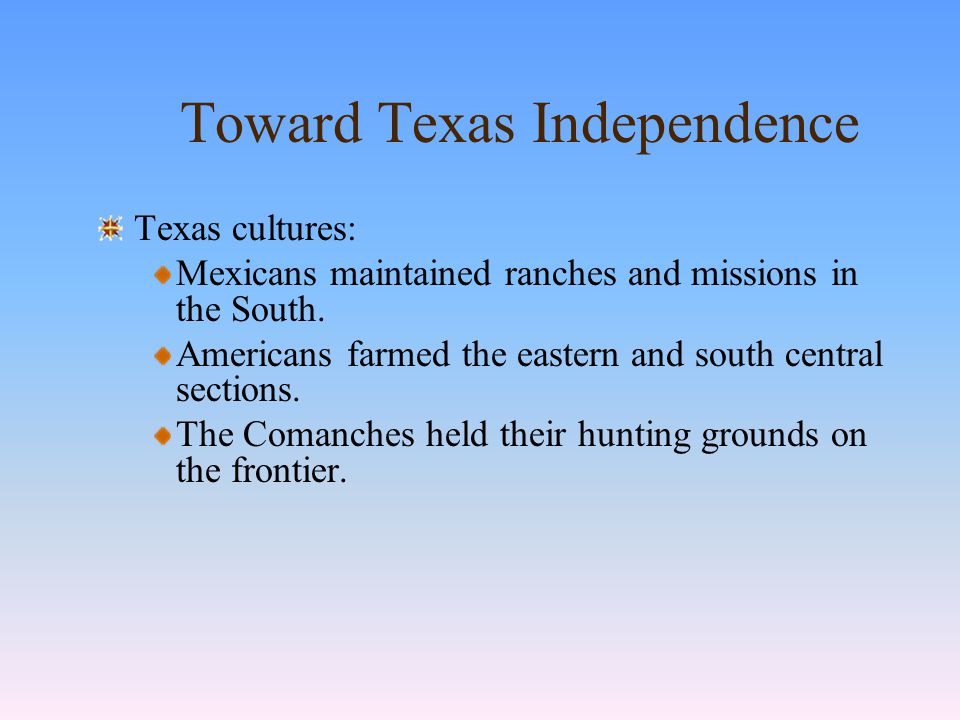 Mexican Texas Stephen F.Austin promoted American emigration.