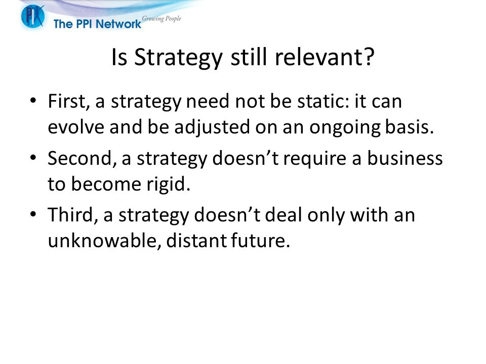 Is Strategy still relevant.