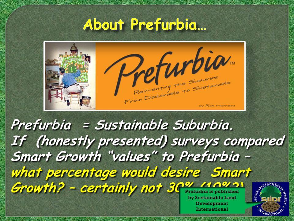 Prefurbia = Sustainable Suburbia.
