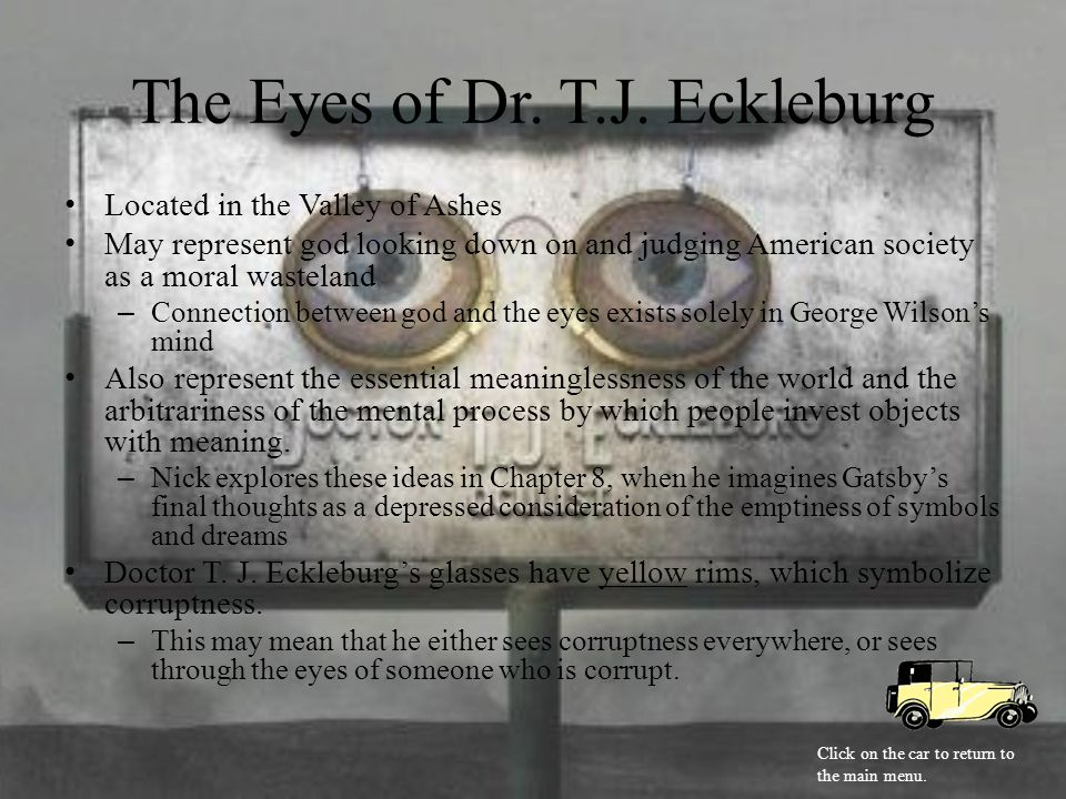 The Eyes of Dr.T.J.