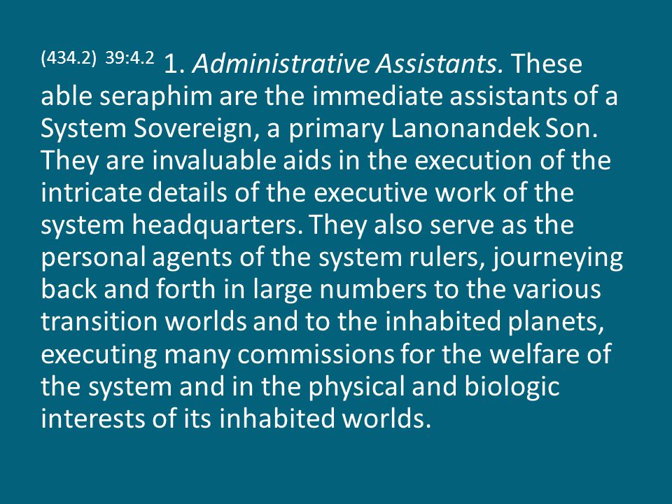 (434.2) 39:4.2 1.Administrative Assistants.