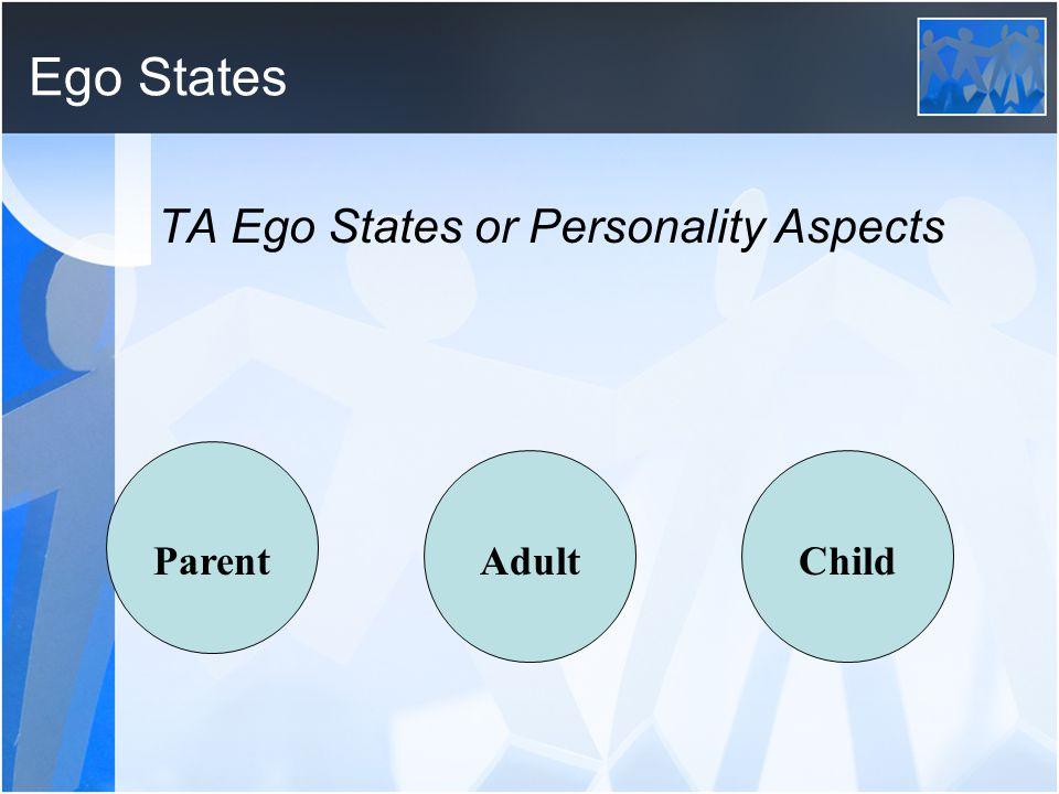 Ego States TA Ego States or Personality Aspects ParentAdultChild
