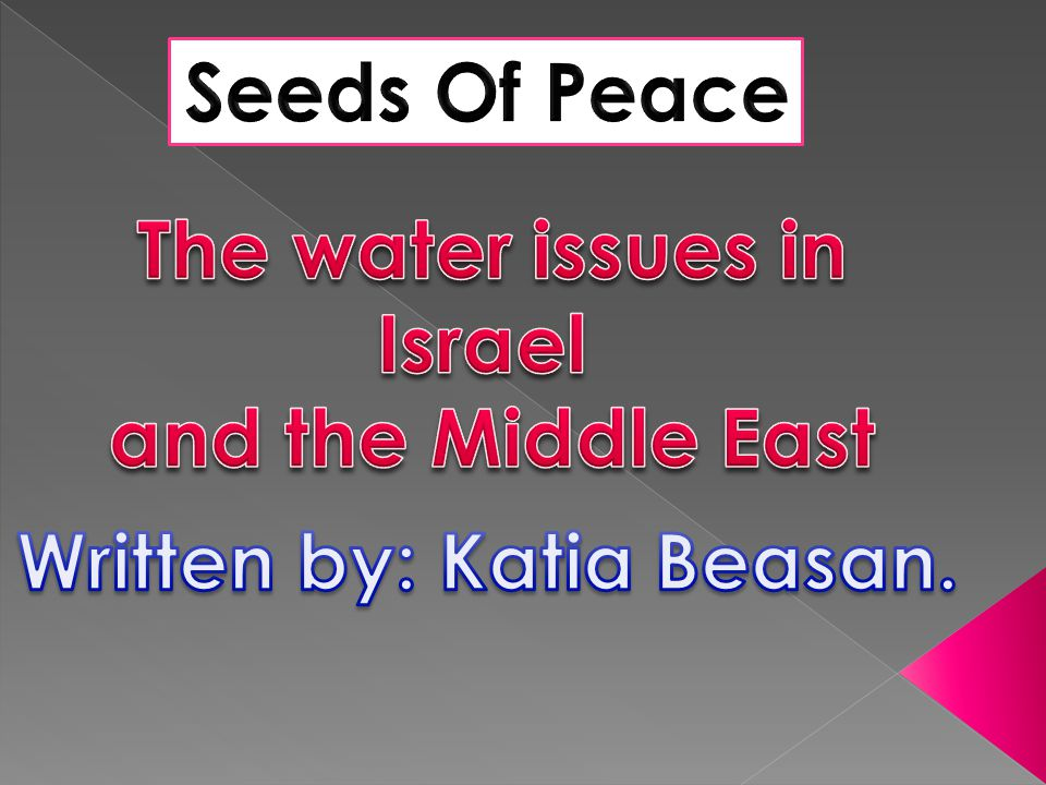 As far as we can go back in History, water has played a crucial role in the relations between the different countries of the Middle-East.