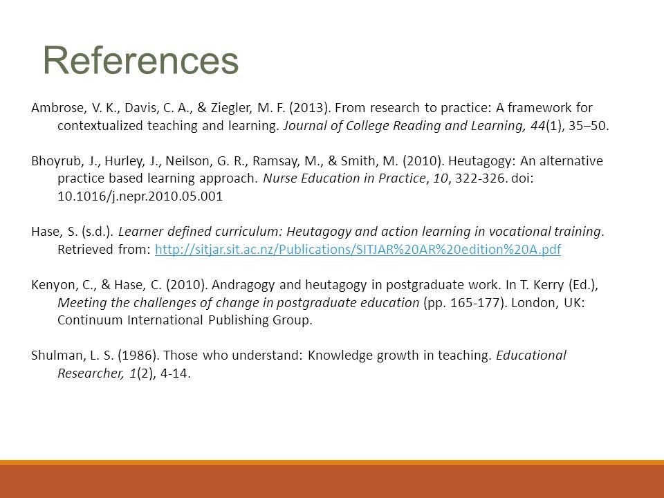 Ambrose, V. K., Davis, C. A., & Ziegler, M. F. (2013).