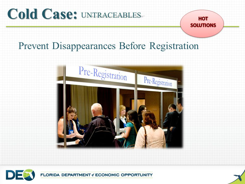 Prevent Disappearances Before Registration