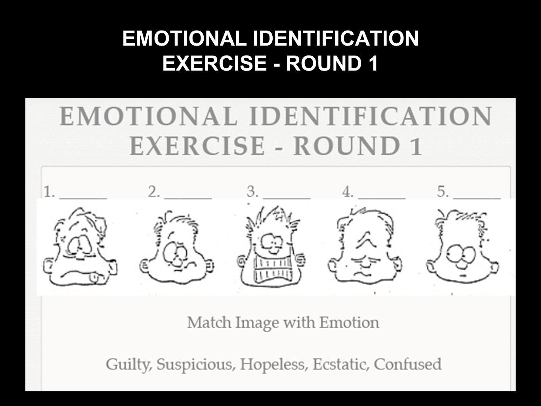 EMOTIONAL IDENTIFICATION EXERCISE - ROUND 1