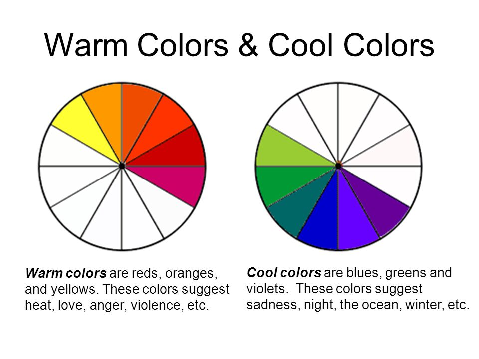 Georgia O Keeffe Warm Color SchemeCool Color Scheme