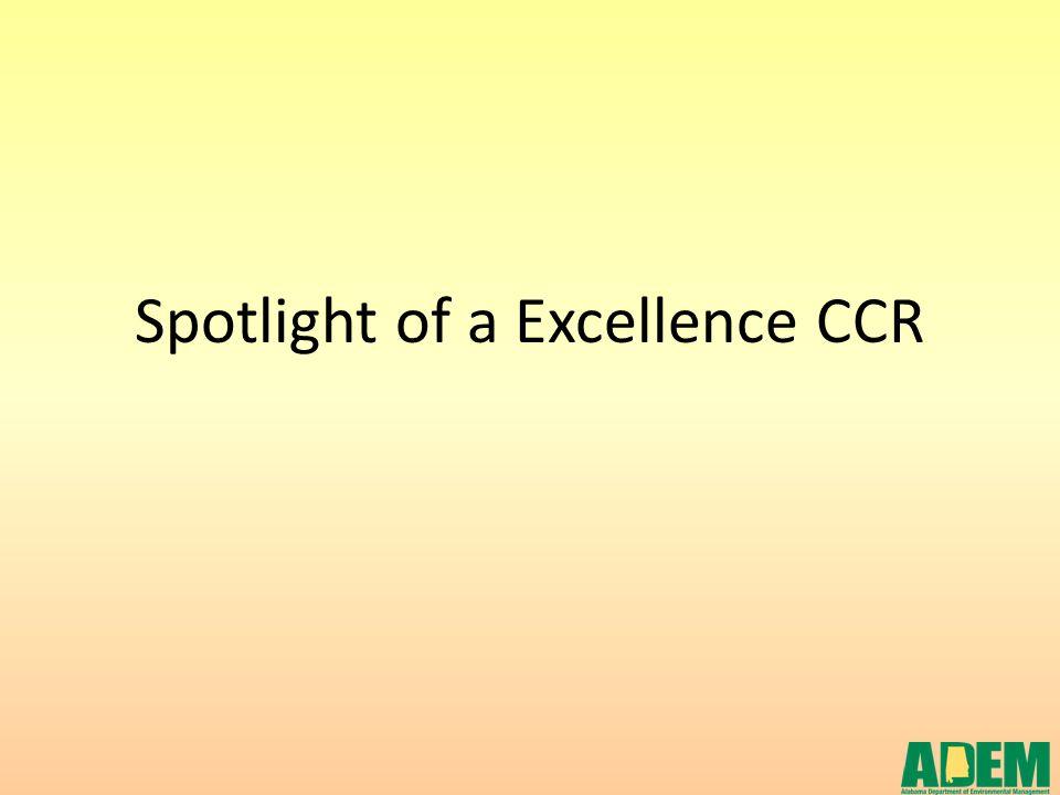 Spotlight of a Excellence CCR