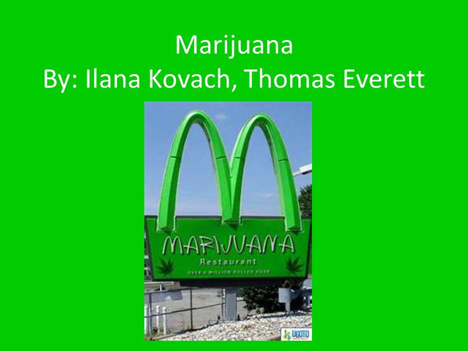 Marijuana By: Ilana Kovach, Thomas Everett