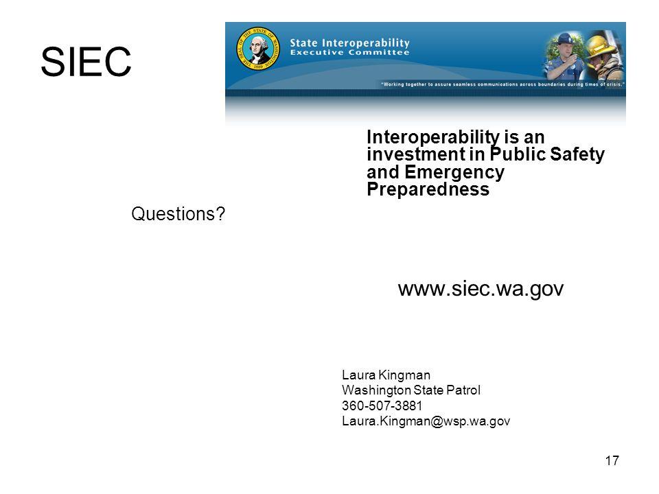 17 SIEC Questions.