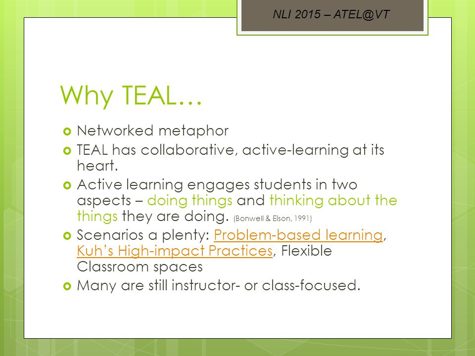 Putting it together  Focusing on active learning principles and engaging students in multimodal activities results in deeper learning for our students.