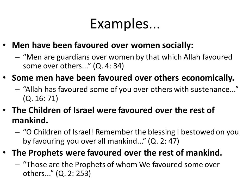Examples...