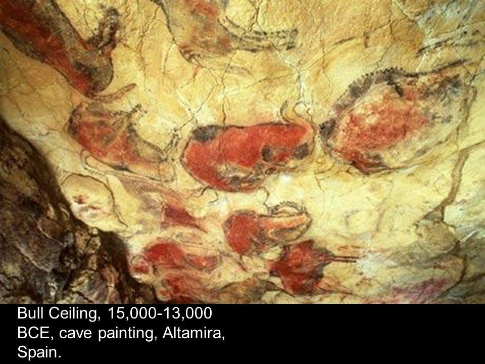 Bull Ceiling, 15,000-13,000 BCE, cave painting, Altamira, Spain.