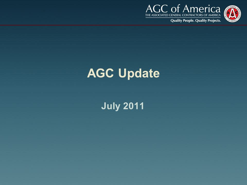 EPA Stormwater Permit At AGC's request, EPA extended comment period to 7/12 AGC held webinar on 6/1 Developing template comment letter for chapters Citizen suits could imperil construction projects AGC considering legal/legislative remedies
