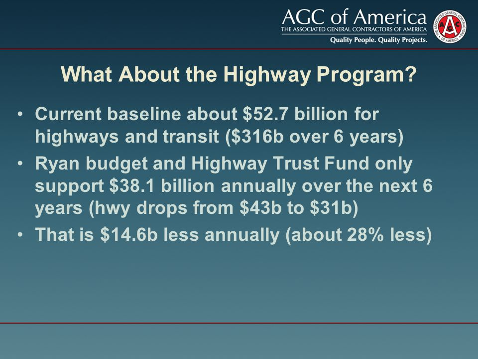 What About the Highway Program.