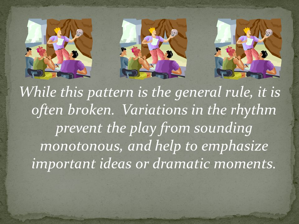While this pattern is the general rule, it is often broken.